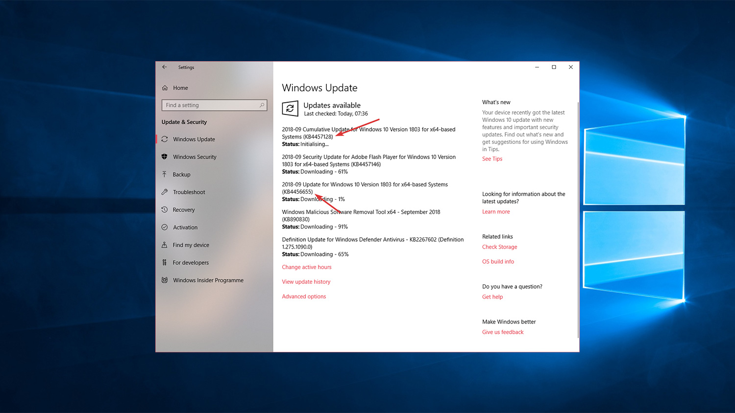 Direct Download Links for KB4457128 and KB4456655