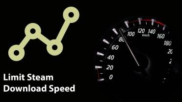 Steam limit steam download speed