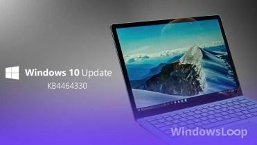 Kb4464330 update