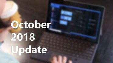 Windows 10 october 208 update
