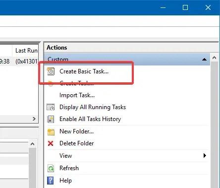Task scheduler create basic task