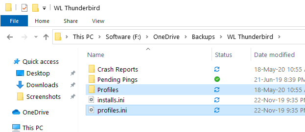 Backup thunderbird emails profile - copy files to restore-min