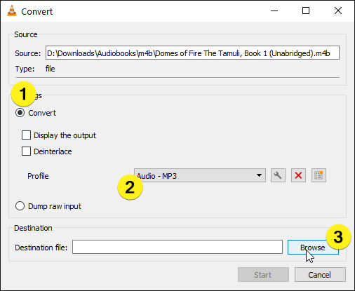 Convert m4b to mp3 select convert options in the convert window