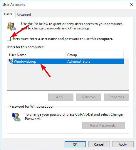 Windows 10 auto login 02