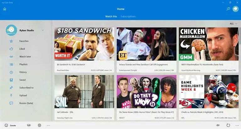 8 Best YouTube App for Windows 10