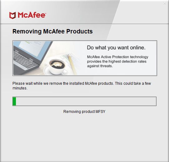 Uninstall mcafee on windows 10 image 18