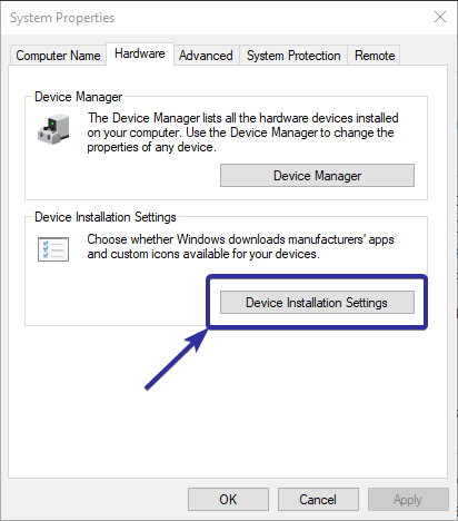 Disable automatic driver installation 03