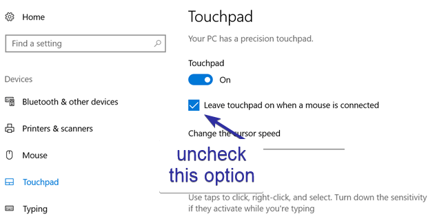 Disable touchpad 01