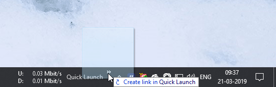 Add quick launch toolbar 08