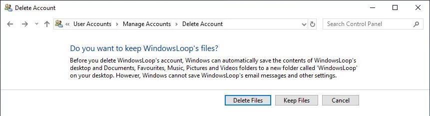 Delete user account windows 10 09