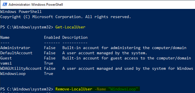 Delete user account windows 10 19