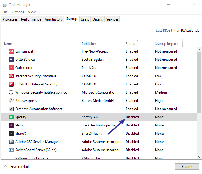 Disable spotify startup windows 10 06