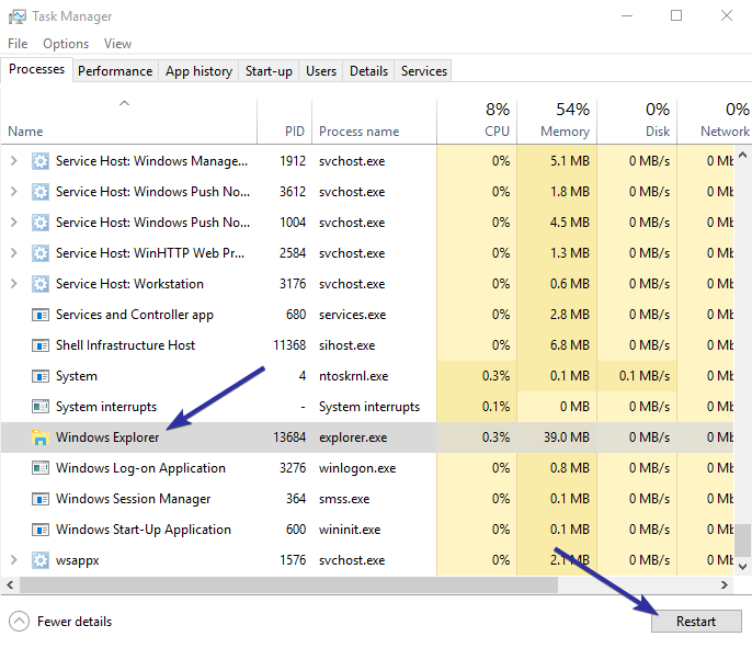 Disappearing columns in file explorer 06