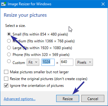 How to Resize Images from Right-click Context Menu in Windows 10