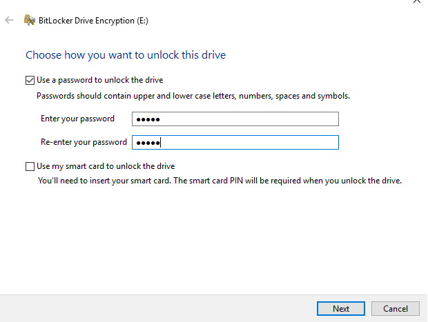 Win10 lock folder with password 22
