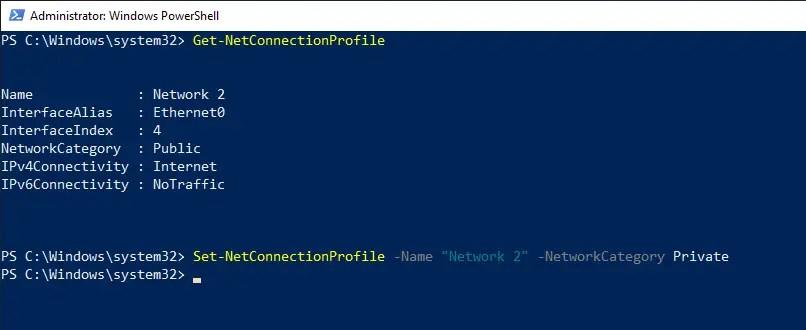 Windows 10 change network location type 05