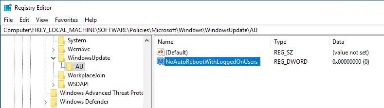 08 stop automatic windows 10 reboot