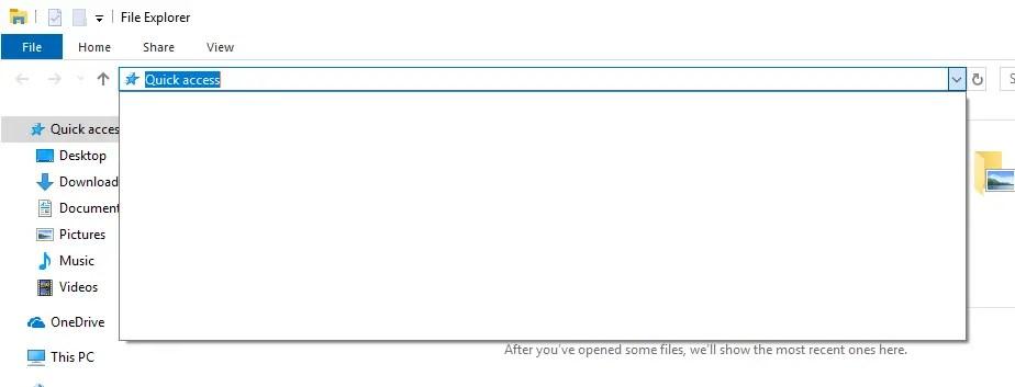 Clear file explorer address bar history 03
