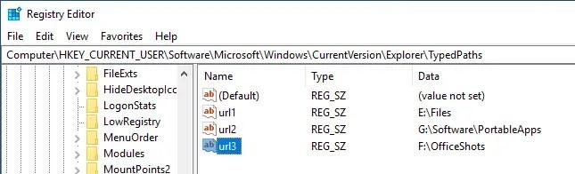 Clear file explorer address bar history 06