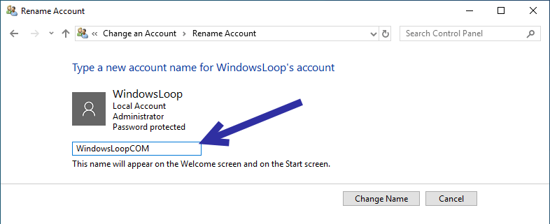 Rename windows user account 05