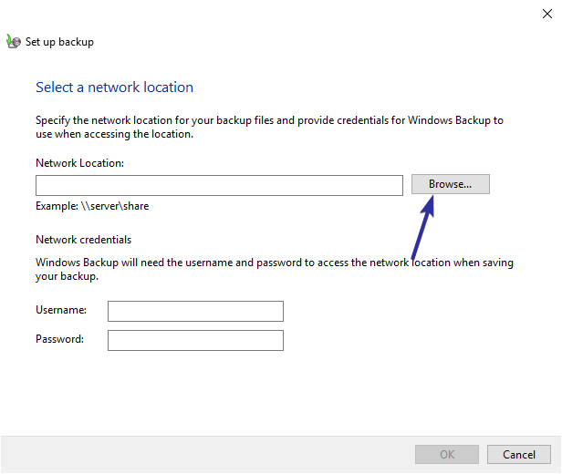 Windows 10 backup to network drive 04