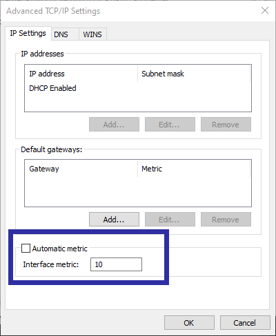 Change network priority step 06