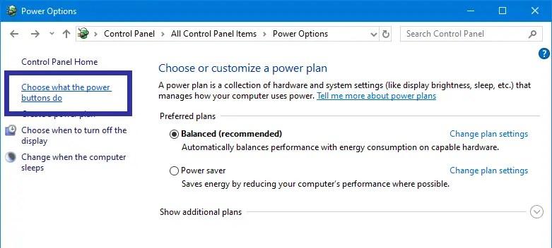 Fix missing hibernate option step 06