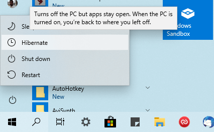 Fix missing hibernate option step 09