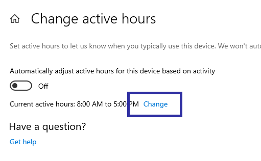 Windows 10 active hours 02