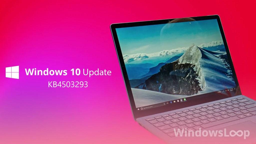 Kb4503293 update