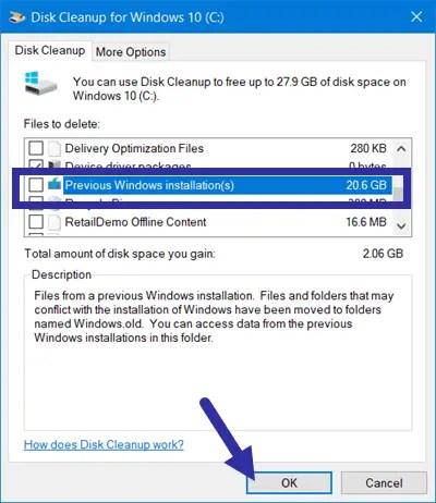 Delete previous windows installations step 07