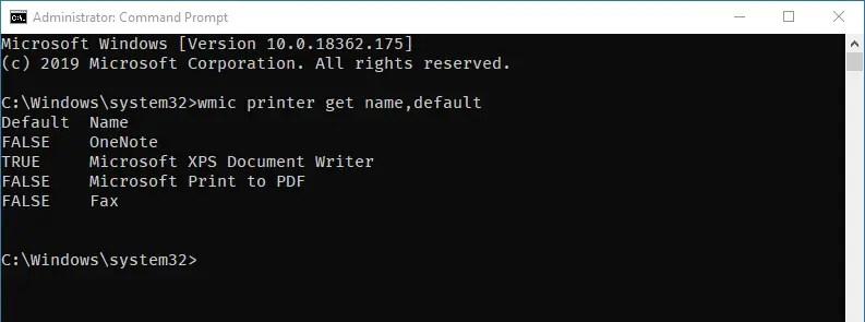 Windows default printer 08