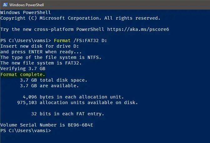 Windows 10 format in fat32 - 08