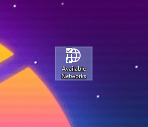 Win10 available networks shortcut - new icon applied