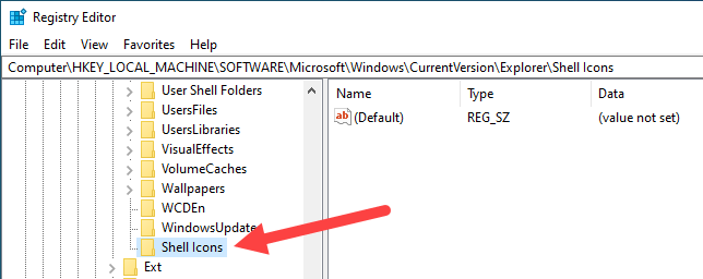 Win10 remove shortcut arrow - name the new key