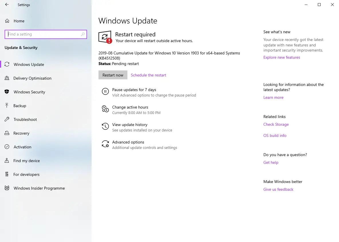 Kb4512508 update