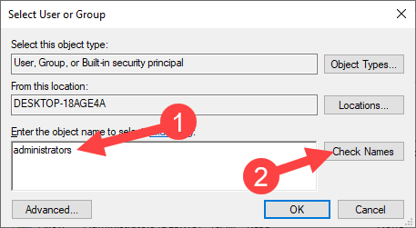 Add open command prompt here option win 10 - click check names