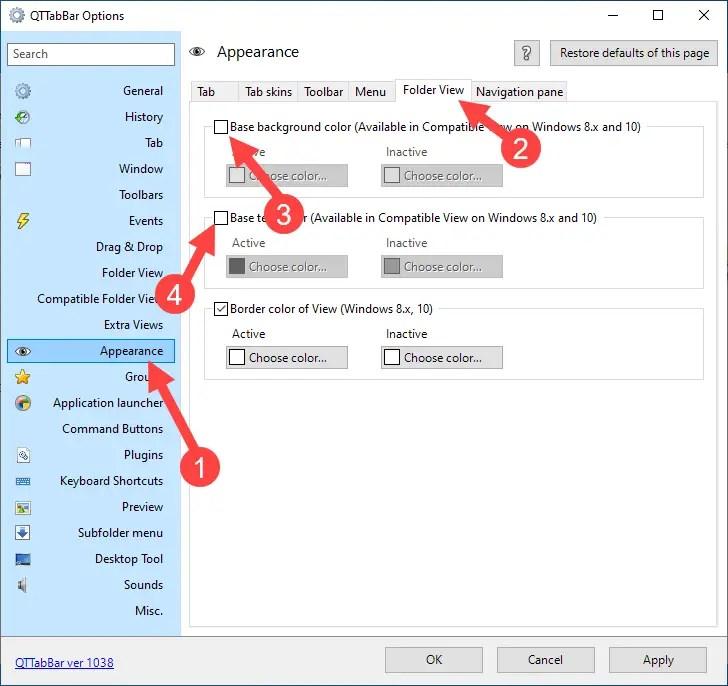Win 10 change folder background color - select color
