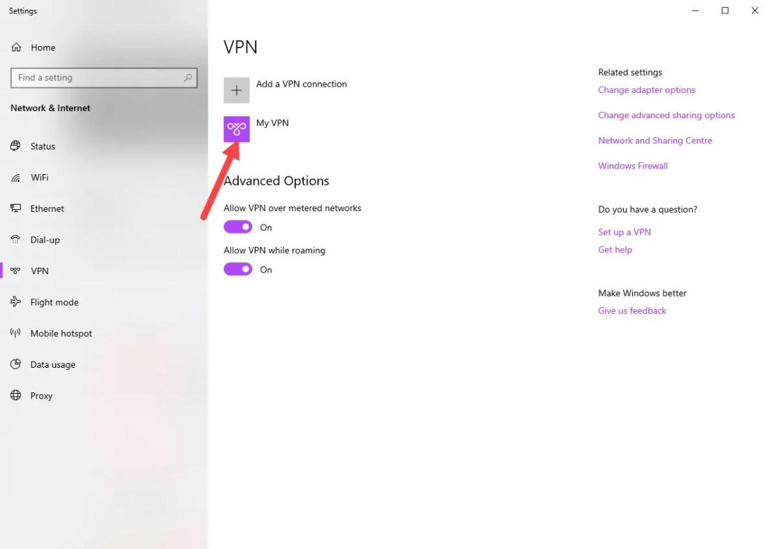 Windows vpn options - vpn connection created