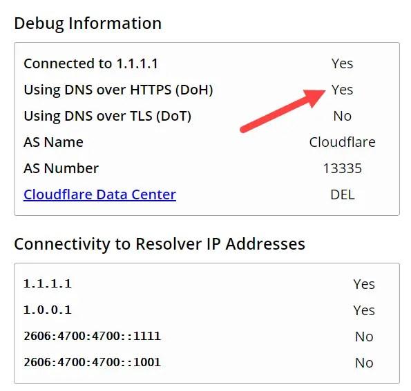 Chrome-dns-over-https-active