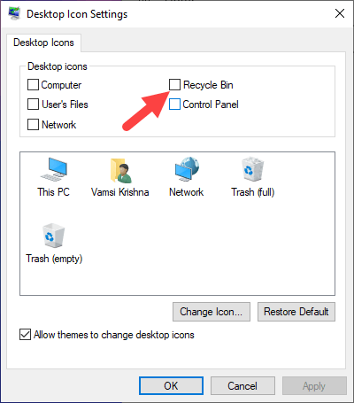 Windows-10-hide-recycle-bin-uncheck-checkbox