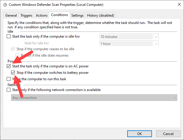 Schedule-windows-defender-scan-set-power-settings