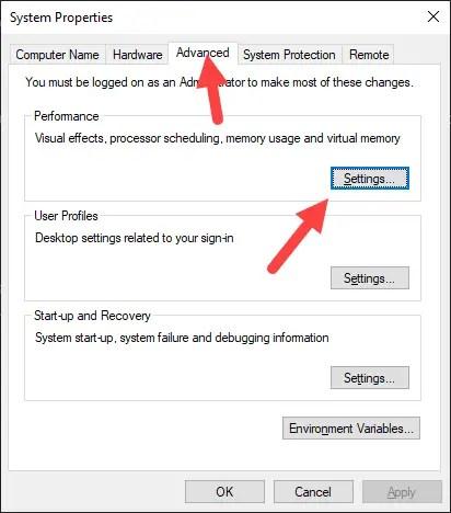 Win-10-change-virtual-memory-size-click-settings