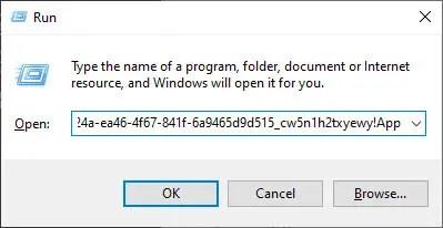 Access uwp file explorer windows 10 - run command