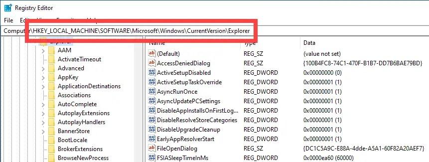 Change icon cache size - go to folder