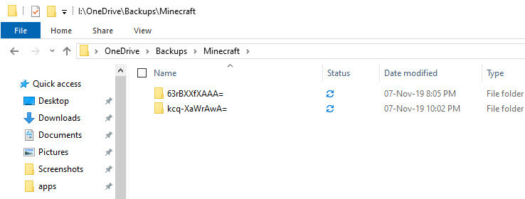 Backup minecraft to onedrive - minecraft worlds synced to onedrive