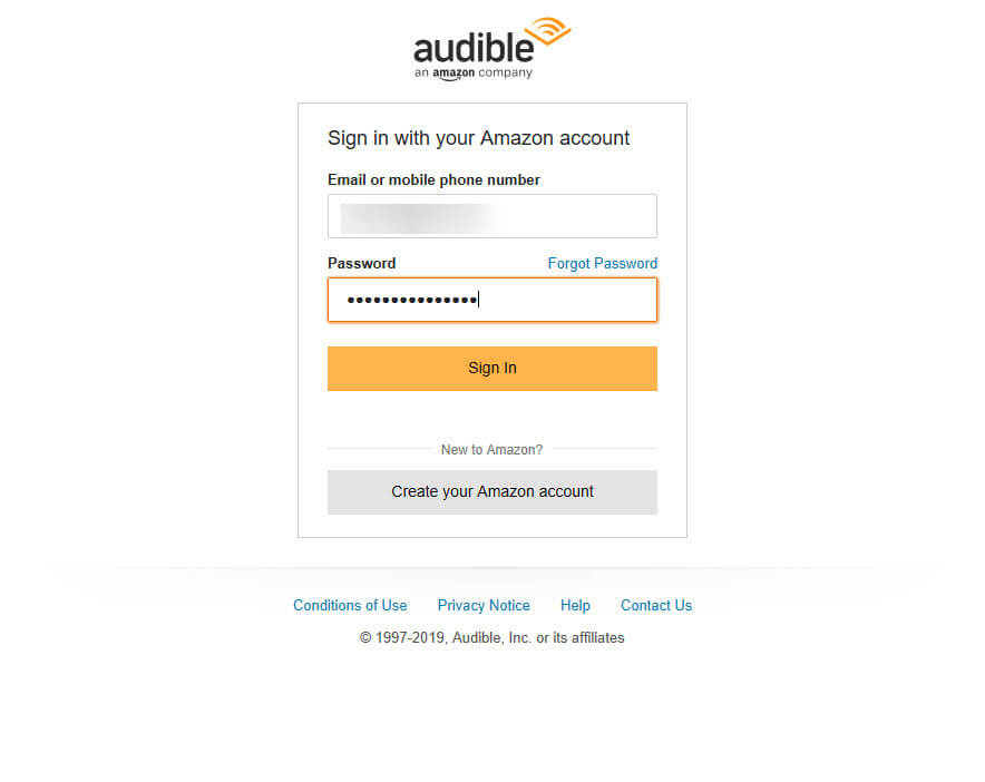 Convert-audible-audiobook-to-mp3-log-into-audible