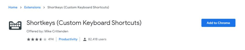 Disable-chrome-shortcuts-install-extension