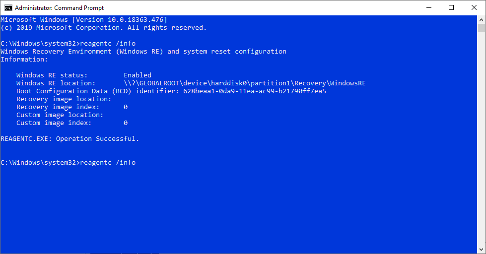 Enable-windows-recovery-environment