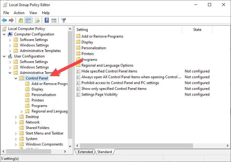 Hide-control-panel-items-gpo-windows-go-to-folder